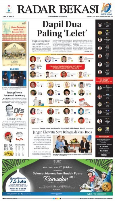 E - PAPER RADAR BEKASI EDISI 10 MEI 2019