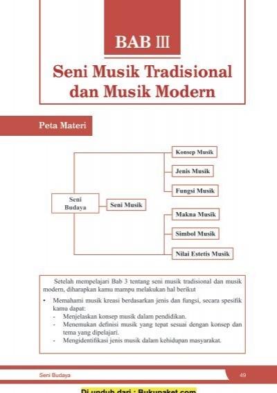 Bab 3 Seni Musik Tradisional Dan Modern