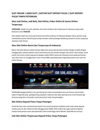Situs Judi Online Judi Bola Slot Online Poker Online Casino Online Terpercaya