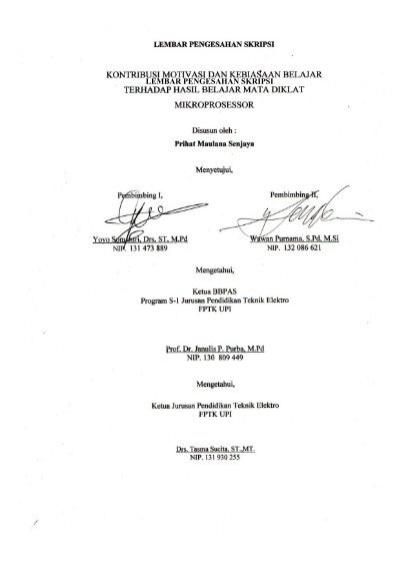 I Lembar Pengesahan Skripsi Repository Upi Universitas