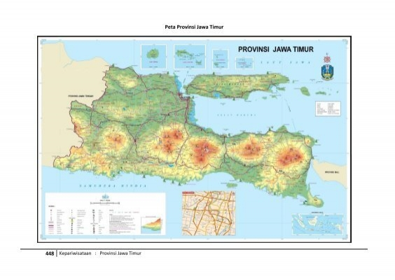 Peta Provinsi Jawa Timur Ujp