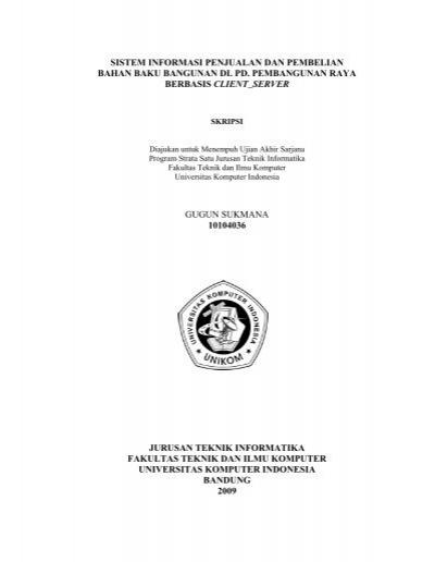 Sistem Informasi Penjualan Dan Pembelian Bahan Baku Bangunan