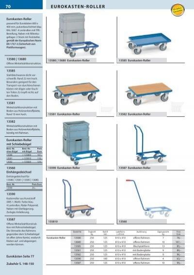 FETRA Eurokasten-Roller 13540 250//100 kg Tragkraft  Etagen-Roller Plattformwagen