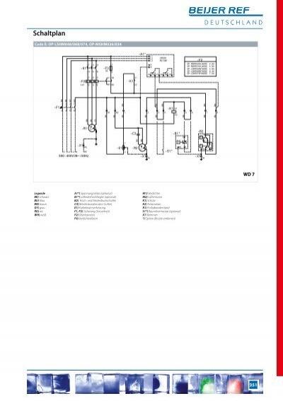 Schaltplan 0 Code E: OP-M