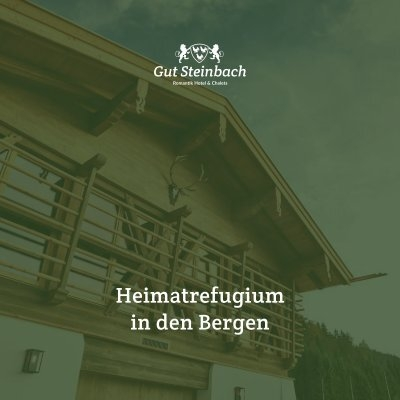 romantik hotel chalets gut steinbach heimatrefugium in den bergern. Black Bedroom Furniture Sets. Home Design Ideas