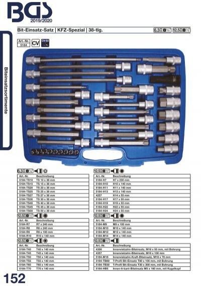 BGS 4472 Speziall-Einsatz o 100 mm lang 1//2 T-Profi 12,5 B. T40