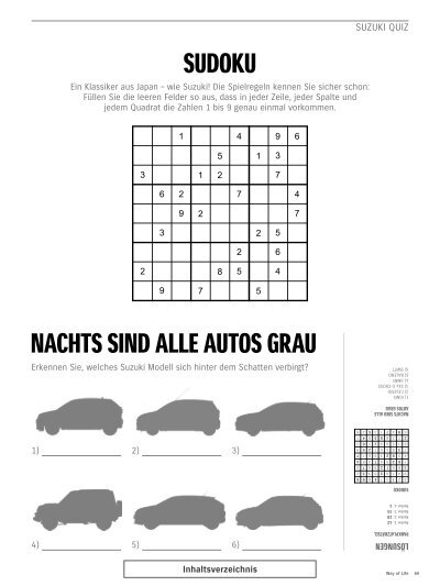 Suzuki Quiz Parkplatzrät