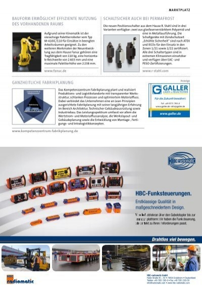 Produkte und systeme spez for Koch lagertechnik