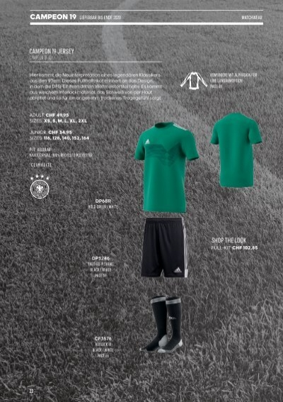adidas Campeon 19 Trikot (DU4390)