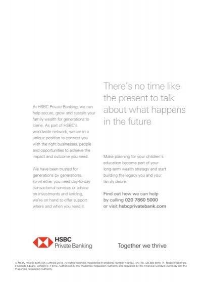 At HSBC Private Banking,
