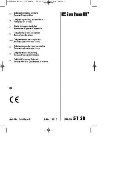 Câble Starter convient à Tondeuse EINHELL BG-PM 46 se