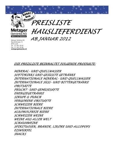 Preisliste nicht-alkoholische Getränke (PDF) - Getränke Neumann ...