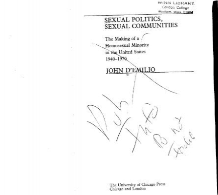 Sexual Politics Sexual Communities