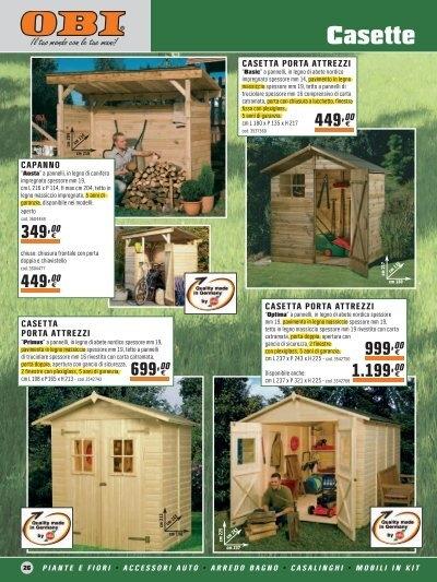 Giardino obi legno e casette for Casette in legno obi