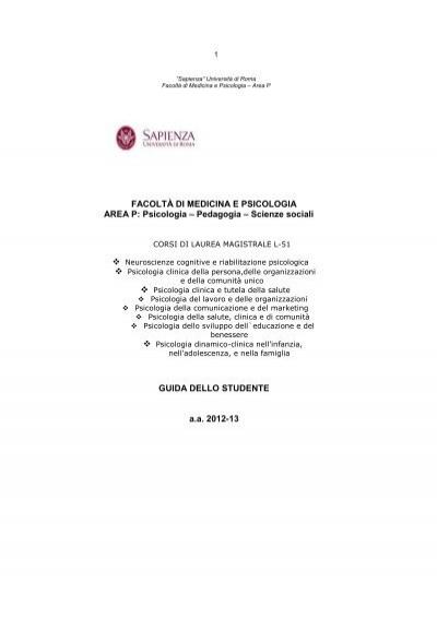Ordine Degli Studi Corsi Di Laurea Magistrale Lm 51 Facolta Di