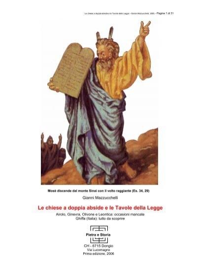Le chiese a doppia abside e le tavole della legge comune - Le tavole della legge ...