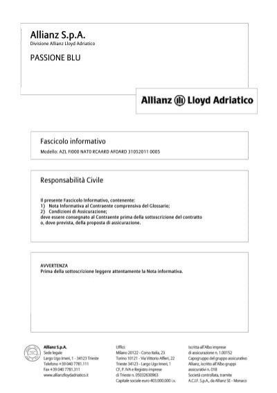 allianz s.p.a. - lloyd adriatico