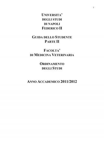 Calendario Appelli Unina.Guida Dello Studente A A 2011 2012 Facolta Di Medicina