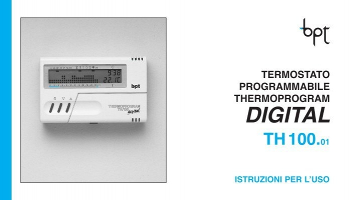 Digital bpt for Bpt thermoprogram istruzioni