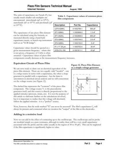 piezo film sensors technical manual
