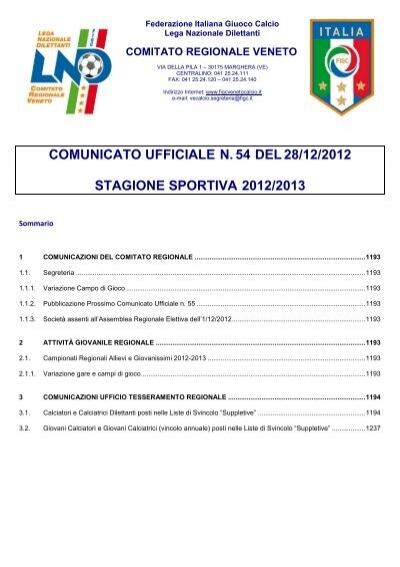 Com N54 Figc Veneto