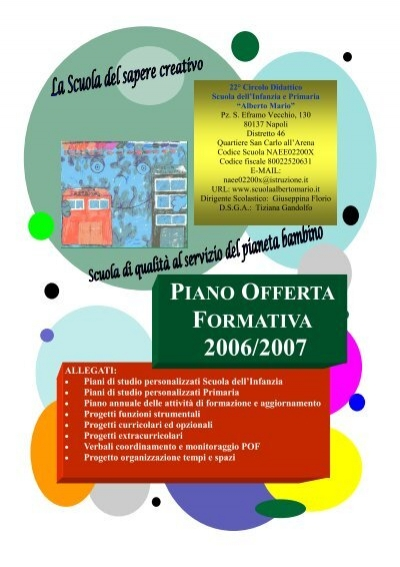Anno Scolastico 20062007 Scuolaalbertomarioit