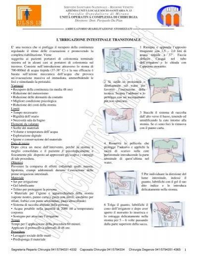 Irrigazione Intestinale Della Colostomia Ulss 13