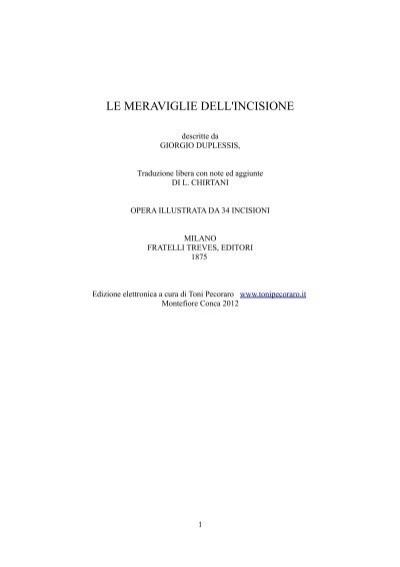 Duplessis Giorgio Le Meraviglie Dell Incisione Toni Pecoraro