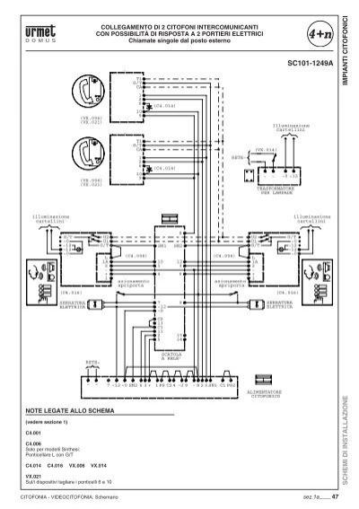 Impianti for Urmet 1130 12 schema