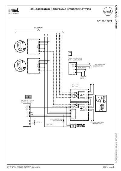 Schemi Elettrici Citofoni Elvox : Impianti citofonici schem