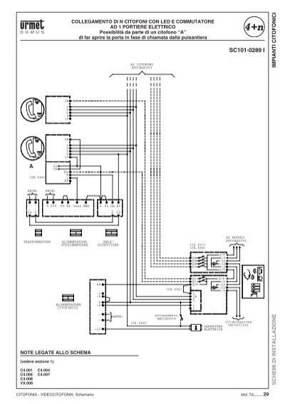 Schemi Elettrici Citofoni Urmet : Impianti citofonici schem