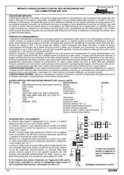 Schema Elettrico Piastra Per Capelli Ghd : Schema collegamento elvox citofono fare