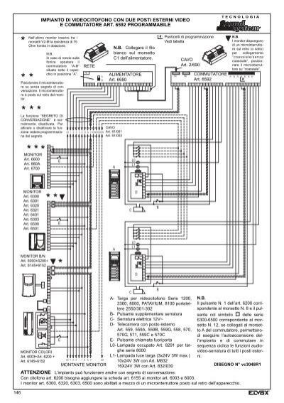 Schemi Elettrici Per Elettrauto : Schemi elettrici per citofoni elvox videocitofonia fili