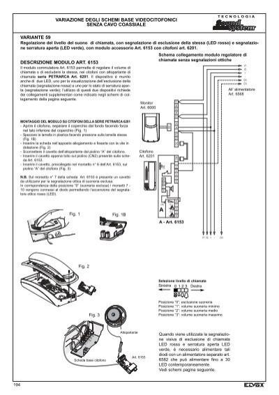 Schema Collegamento Elvox 131 : Variante schema di col