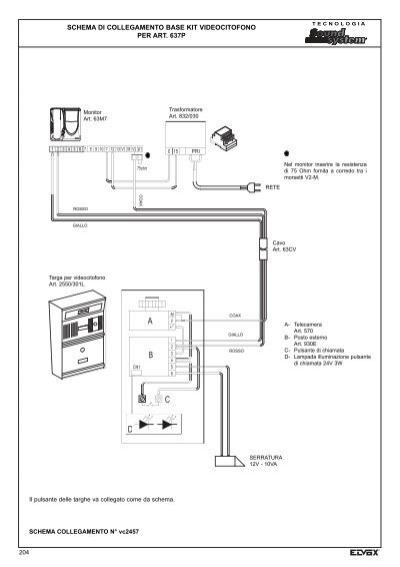 Schema Elettrico Elvox 938a : Schema elettrico elvox a kit citofonico monofamiliare