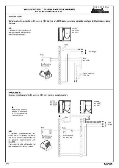 Schema Elettrico Elvox : Schema di collegamento de