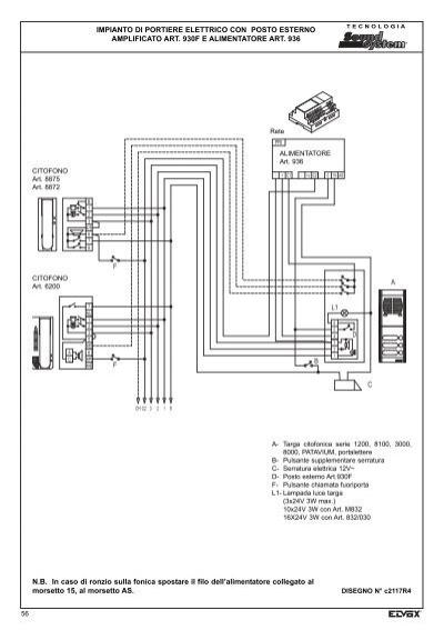 Schema Elettrico Elvox 938a : Schema elettrico citofono elvox da