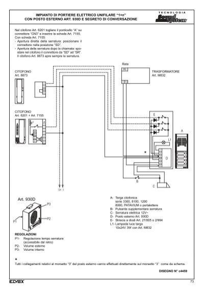 Schema Elettrico Elvox : Schema elettrico citofono elvox da