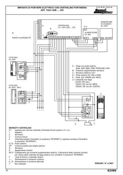 Schema Elettrico Elvox 938a : Impianto di portiere elet