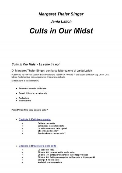Cults in Our Midst Mamma Dolce BLOG