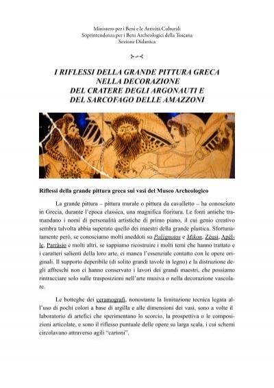 Riflessi Della Grande Pittura Greca Archeologica Toscana