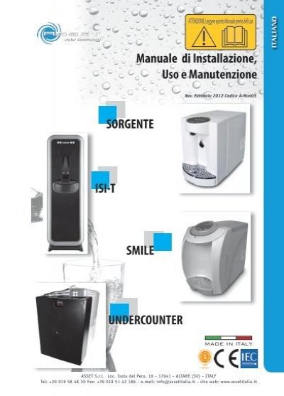 Manuale di installazione uso e manutenzione smile for Absoluta 16 manuale installazione