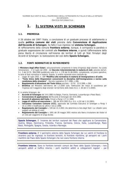 1 Il Sistema Visti Di Schengen Promozione E Sviluppo Italia Albania