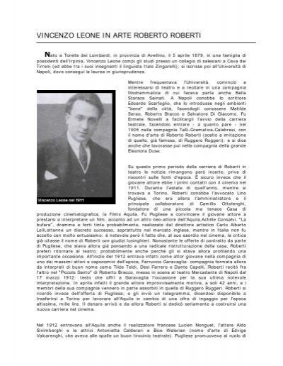 Vincenzo Leone In Arte Roberto Roberti Associazione