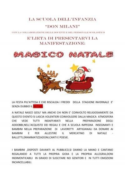 Poesie Di Natale Per Scuola Infanzia.La Scuola Dell Infanzia Scuoladonmilani3santantimo It