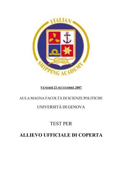 Test per accademia italiana marina mercantile for Test scienze politiche