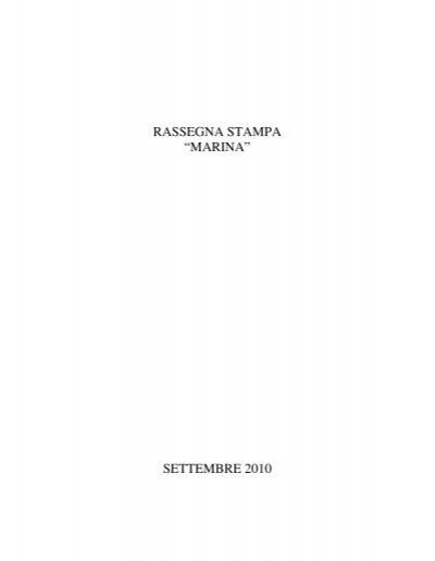 Rassegna Stampa Marina Settembre 2010 Anmi Ladispoli