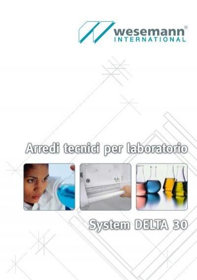 arredi tecnici per laboratorio system delta 30 wesemann