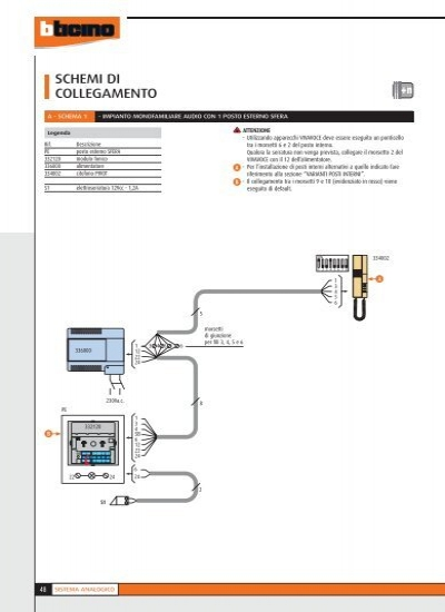 Schema Elettrico Elettroserratura : Schemi di collegamento a