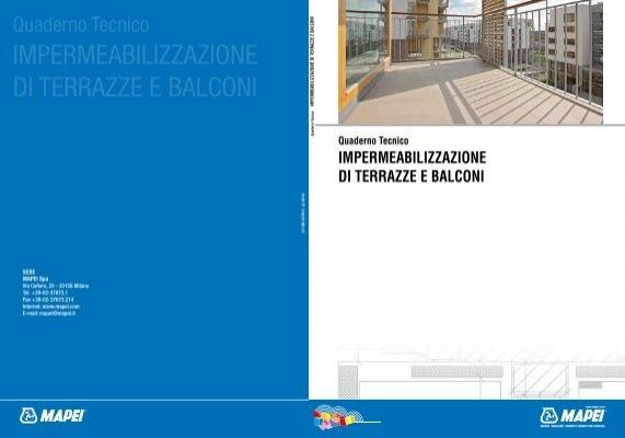 Beautiful Impermeabilizzazione Terrazzo Mapei Ideas ...
